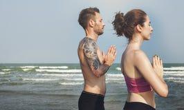 Yoga Exercise Active Beach Outdoor Concept Royalty Free Stock Photos