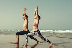 Yoga Exercise Active Beach Outdoor Concept Stock Photo