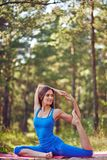 Yoga exercise Royalty Free Stock Images
