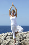 Yoga exercise Outdoor Royalty Free Stock Photography
