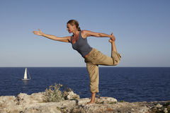 Yoga exercise Outdoor Stock Photo