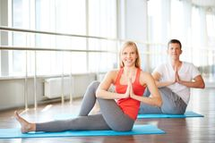 Yoga exercise Royalty Free Stock Photo