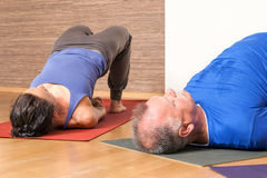 Yoga Exercise - Setu Bandha Sarvangasana Royalty Free Stock Images