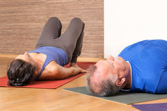 Yoga Exercise - Setu Bandha Sarvangasana Stock Photography