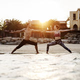 Yoga Exercise Stretching Meditation Concentration Summer Concept Royalty Free Stock Photo