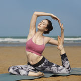 Yoga Exercise Stretching Meditation Concentration Summer Concept Royalty Free Stock Photography