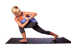 Yoga exercise stretching Stock Photos