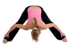 Yoga exercises Royalty Free Stock Photos