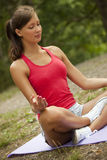 Yoga exercises Stock Photo