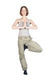 Yoga exercises. Stock Photos