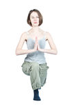 Yoga exercises. Royalty Free Stock Photo