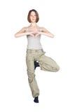 Yoga exercises. Royalty Free Stock Image