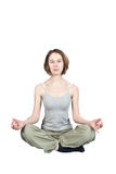 Yoga exercises. Royalty Free Stock Photography