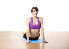 Yoga exercises Royalty Free Stock Images