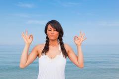 Yoga Exercises Stock Photo