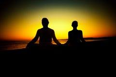 Yoga exercises Stock Image