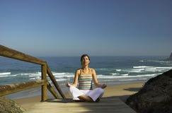 Yoga exercises Royalty Free Stock Image