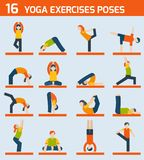 Yoga exercises icons Royalty Free Stock Photo