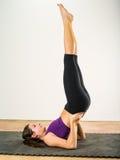 Yoga exercises Royalty Free Stock Images