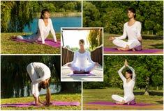 Yoga exercises Stock Images