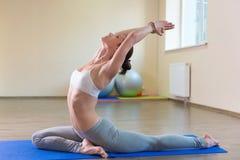Yoga exercises Stock Photography