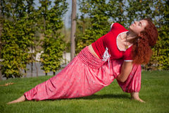 Yoga exercising Stock Photos