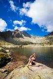 Yoga Exercising In Tatry Mountains Stock Photo
