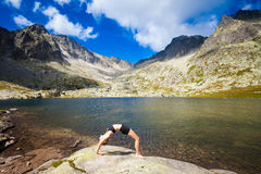 Free Yoga Exercising In Tatry Mountains Stock Photos - 61029573