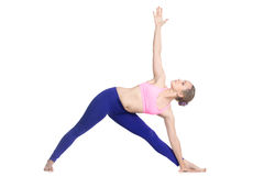 Yoga Extended Triangle Pose Stock Images