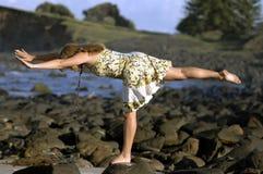 yoga för 01 lady Fotografering för Bildbyråer