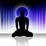 yoga för 2 man Arkivfoton