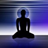 yoga för 3 man Arkivbild