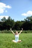 yoga för f8orlängning ii Royaltyfria Bilder