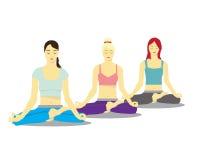 Yoga für Frauen Stockfotografie