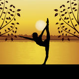 Yoga facente umana Fotografie Stock Libere da Diritti