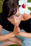 Yoga female Stock Photography
