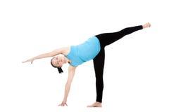 Yoga female in asana Ardha Chandrasana Royalty Free Stock Photos