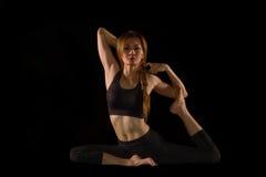 Yoga female doing yoga exercise Stock Photography