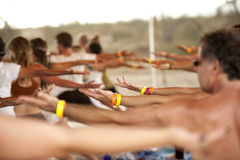 Yoga Festival Class Royalty Free Stock Photography