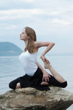 Yoga and fitness. royalty free stock photo
