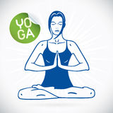 Yoga Fitness Model Illustration Royalty Free Stock Photo