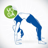 Yoga Fitness Model Illustration Stock Image