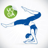 Yoga Fitness Model Illustration Stock Photos