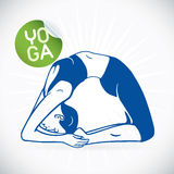 Yoga Fitness Model Illustration Stock Photo