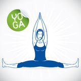 Yoga Fitness Model Illustration. With Sticker Royalty Free Stock Image
