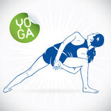 Yoga Fitness Model Illustration Royalty Free Stock Images