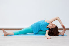 Yoga. Fitness. Stretching. Royalty Free Stock Images