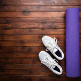 Yoga flat lay background Stock Image