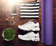 Yoga flat lay background Stock Photo