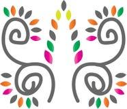 Yoga floral stock de ilustración